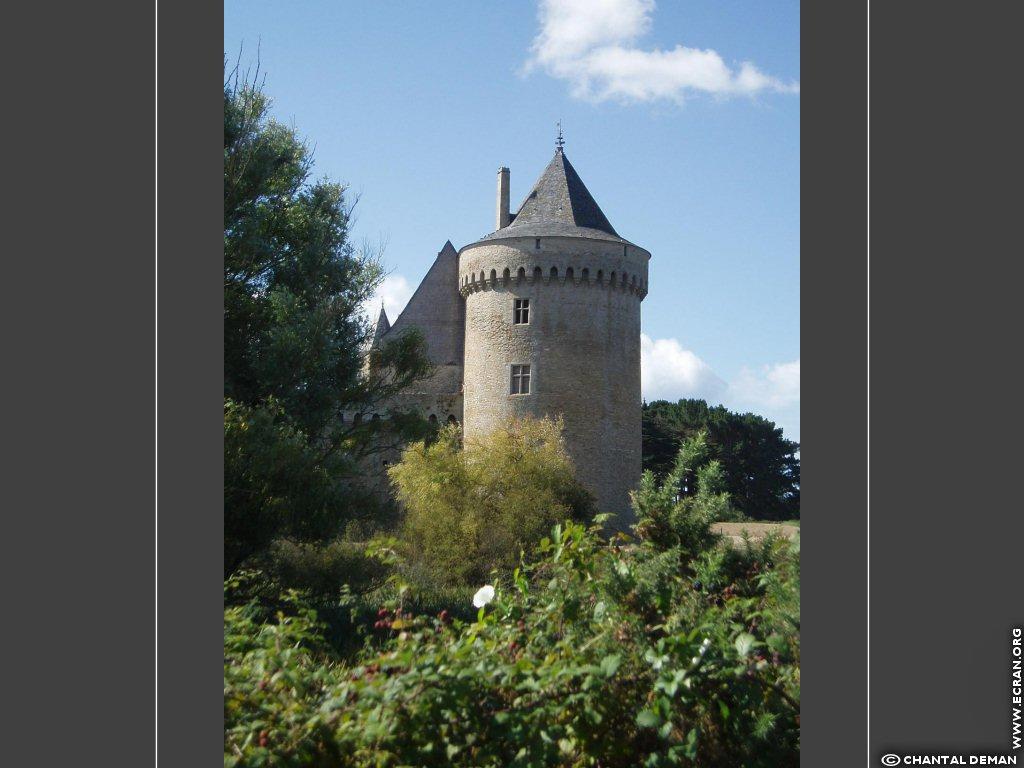 Fond D Ecran De Broceliande Chateau De Suscinio Mare Aux