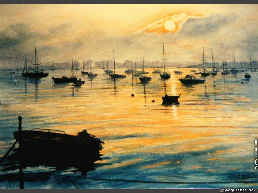 Fond d'écran de Peinture Aquarelle Passion par Jacques Deblock 0001