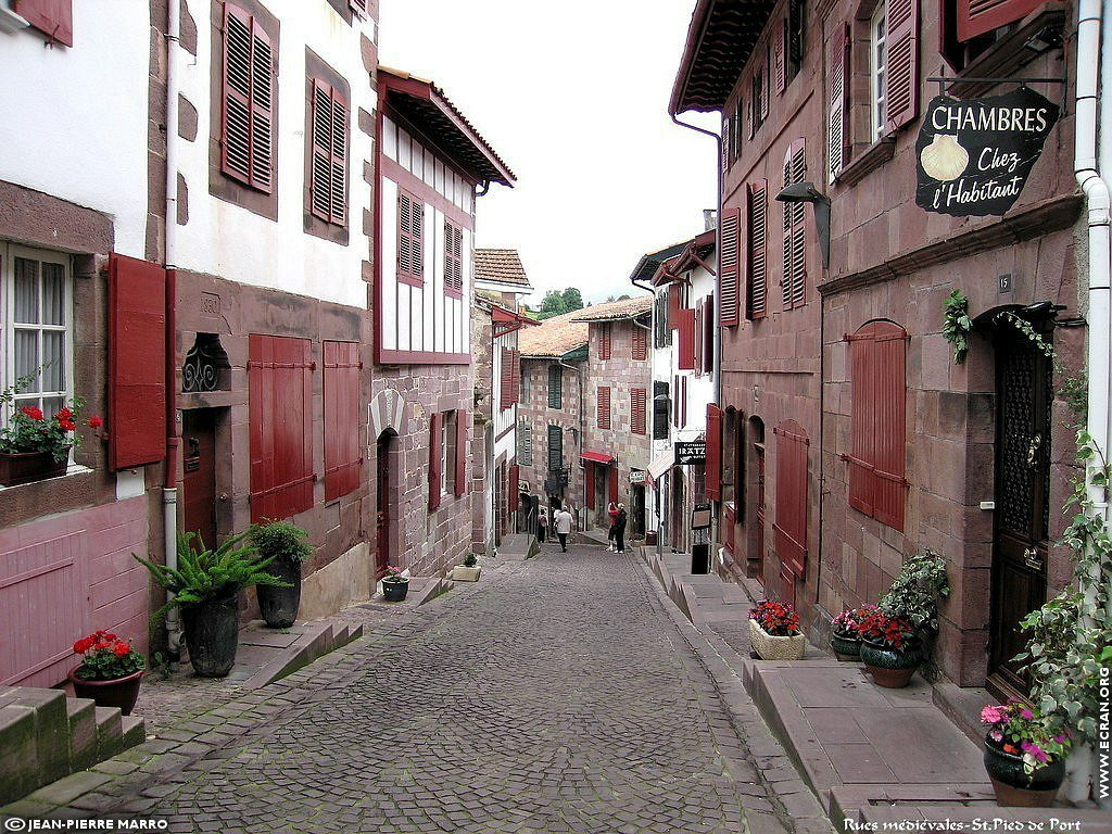 Fond d 39 cran de saint jean pied de port pays basque par jean pierre marro 0003 - Sud ouest saint jean pied de port ...