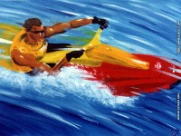 fonds d ecran de Pascal Jean Delorme - Pascal Jean Delorme le peintre de la glisse, surf, jet ski, snowboard, peinture & surf, oc�an & fond ecran